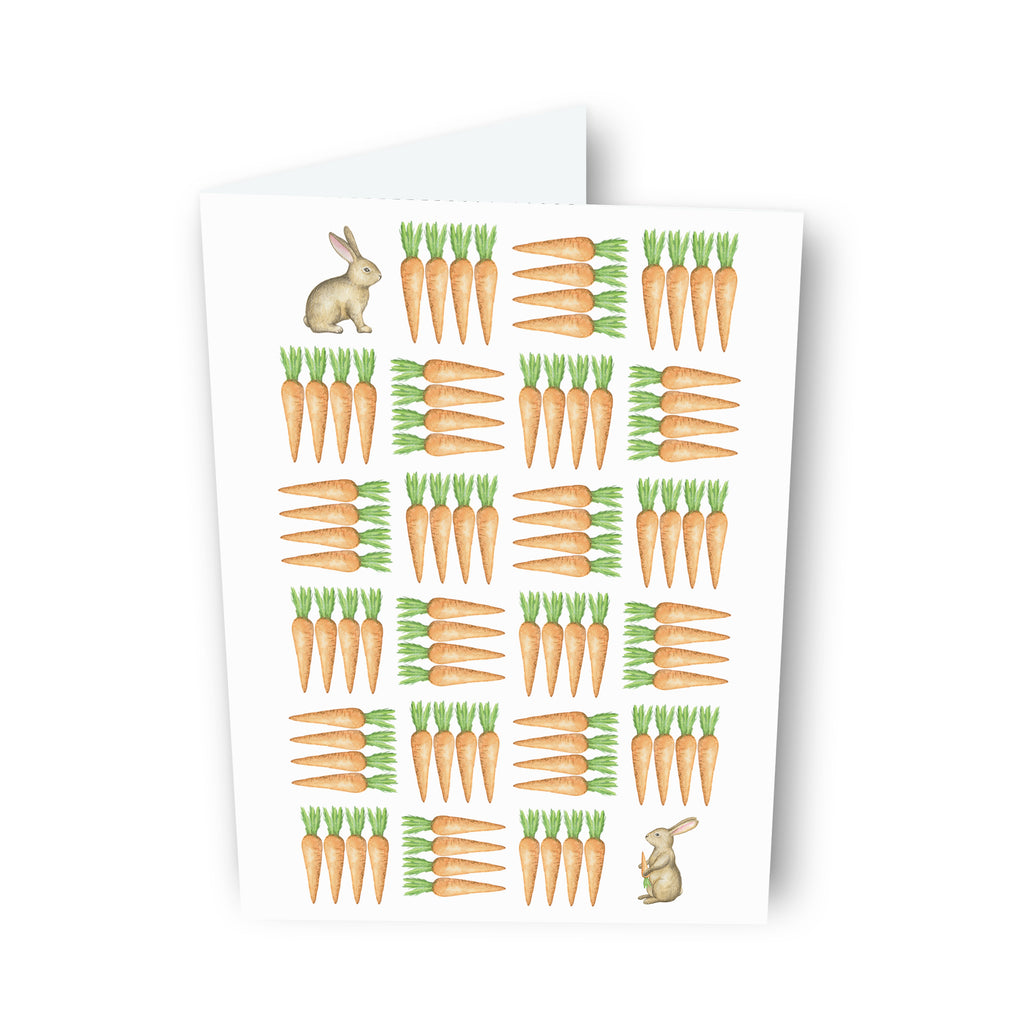 Bunny and Carrot Maze Card