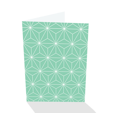 Simply Elegant Green Bursts Notecards (Set of 8)
