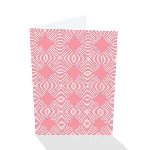Simply Elegant Pink Circles Notecards (Set of 8)