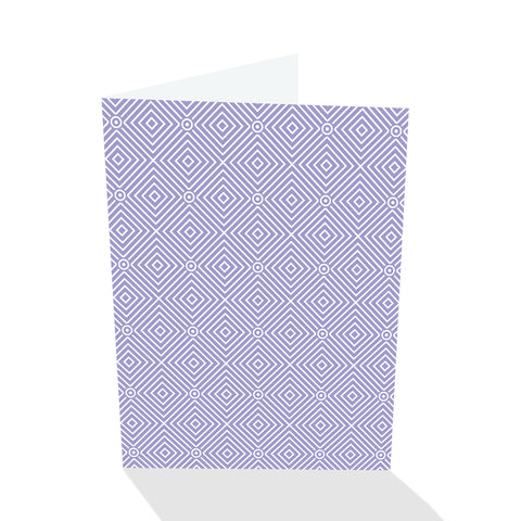 Simply Elegant Violet Diamonds Notecards (Set of 8)