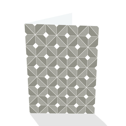 Simply Elegant Pewter Chamfer Block Notecards (Set of 8)