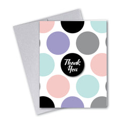 Vintage Pastel Multi-Dot Notecards - 3 Options