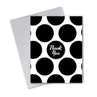 Vintage Pastel Black-Dot Notecards - 3 Options