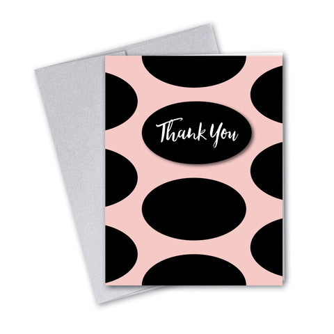 Vintage Pastel Pink Oval Notecards - 7 Options