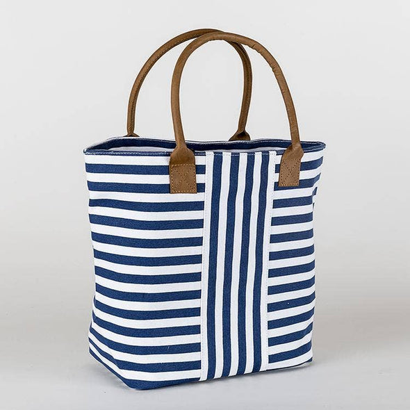 Shorebags.com - Cabana Totes - Navy Narrow Stripes