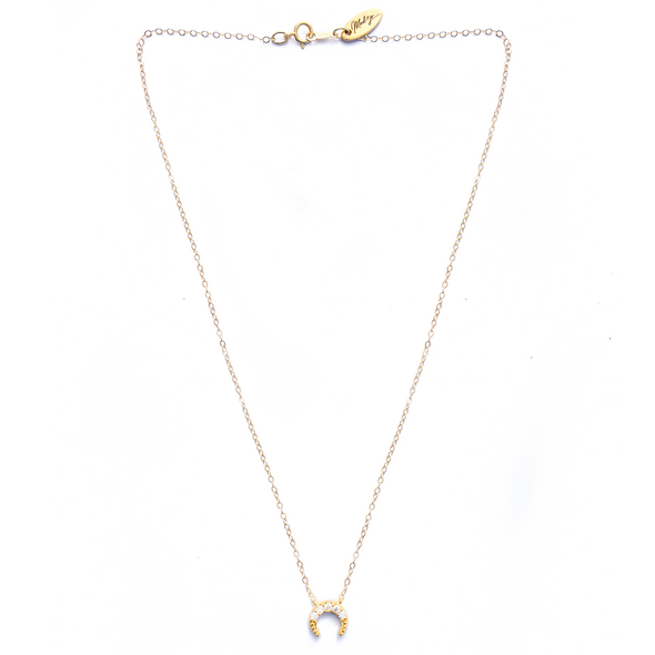 MOD + JO - Pendant Necklace - Luna Crescent Necklace (Gold Filled)