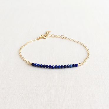 S for Sparkle  - Lapis Lazuli Gemstone Bead Bracelet