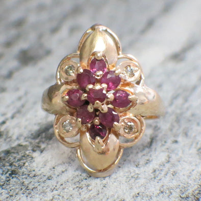 Ruby and Diamond 18K Ring