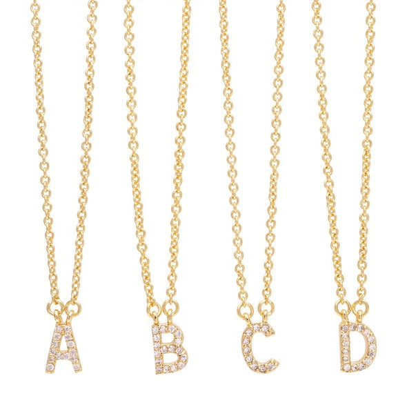 Sonya Renee  - Rose Gold Pave Mini Initials