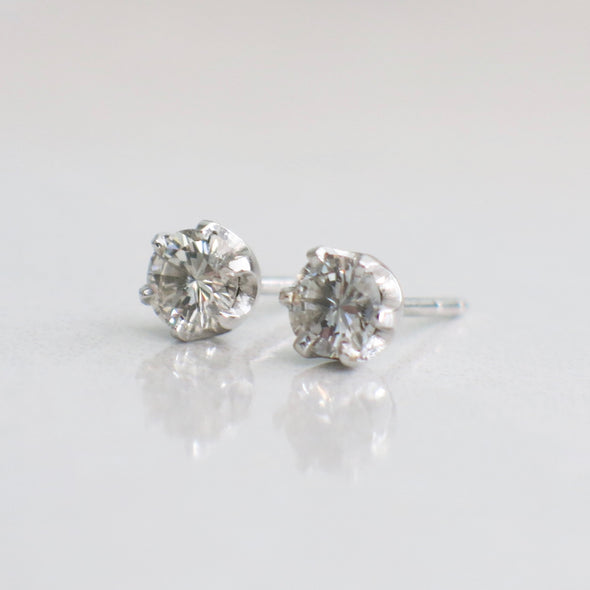 Diamond Stud Earrings .68 CTW 14K White Gold