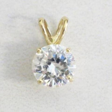 14K Yellow Gold Vintage CZ Pendant