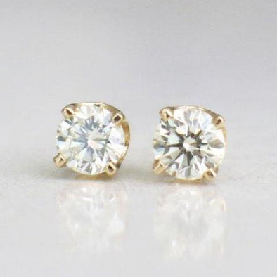 14K Yellow Gold .36 CTW Diamond Stud Earrings