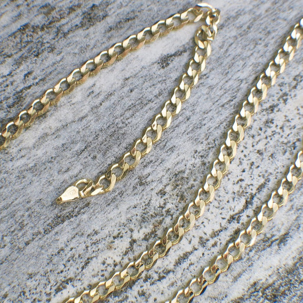 14K Gold Men's Curb Chain