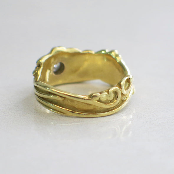 18K Gold Vintage Diamond Ring