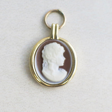 Vintage 14k cameo charm or pendant