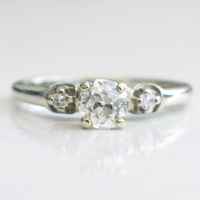 14K Old European Cut Vintage Diamond Engagement Ring