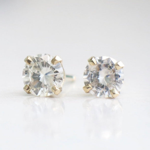 Diamond Stud Earrings .80 CTW 14K Yellow Gold