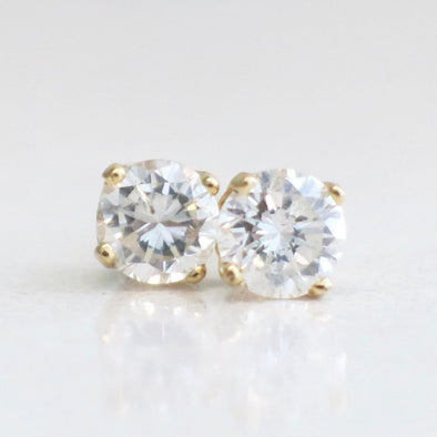 14K Yellow Gold .34 CTW Diamond Stud Earrings