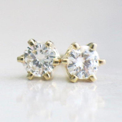 14K Yellow Gold Diamond Stud .30 CTW Earrings