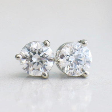 Martini Set Three Prong 14K White Gold .76 CTW Diamond Stud Earrings