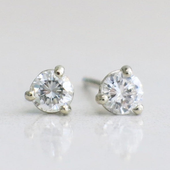 14K White Gold Martini Set Diamond .29 CTW Stud Earrings