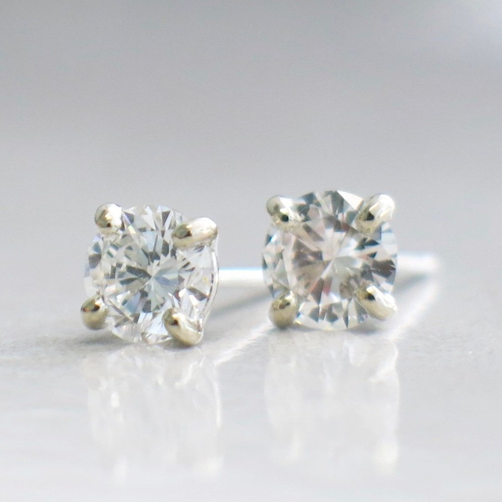 624ab881f058d Diamond .80 CTW Stud Earrings 14K White Gold