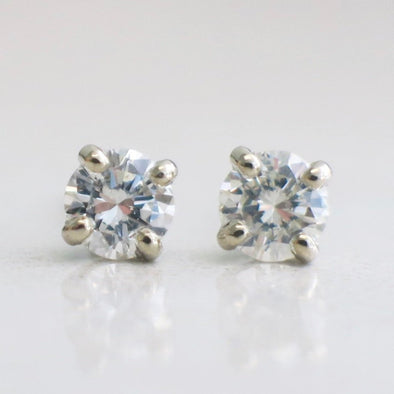 Diamond Stud Earrings .45 CTW 14K White Gold