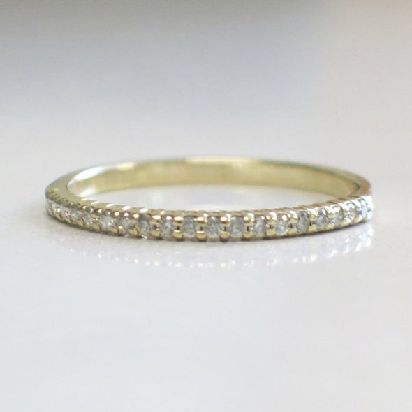 10K Stackable Thin Layering Diamond Ring Anniversary Wedding Band