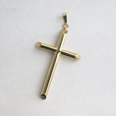 Vintage 14K Yellow Gold Hollow Cross