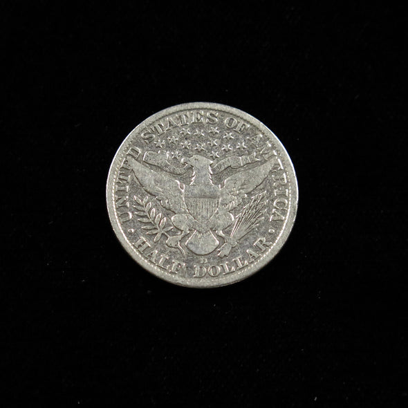 1915 D Barber Head Half Dollar