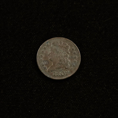 1809 Half Cent Classic Head Normal Date
