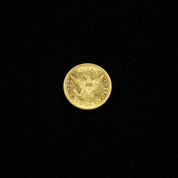1878 Quarter Eagle 2.50 Liberty Head Dollar Gold Coin