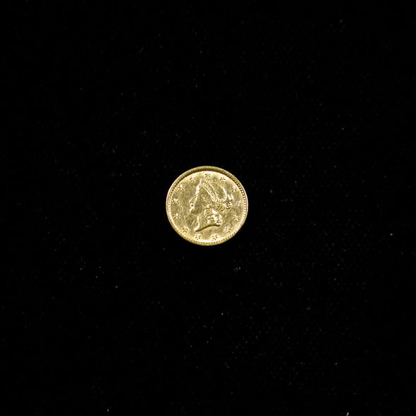 1853 Liberty Head Dollar Gold Coin