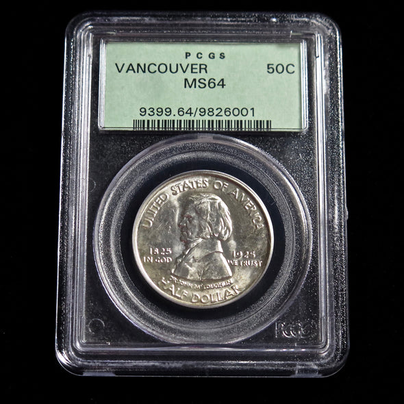 1925 Fort Vancouver Centennial Commemorative Half Dollar PCGS MS64