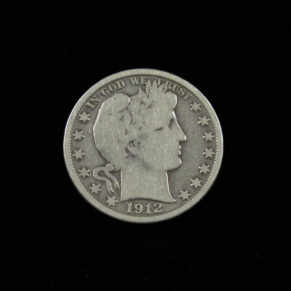 1912 Barber Head Half Dollar
