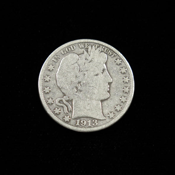 1913 D Barber Head Half Dollar