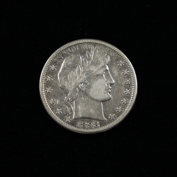 1898 S Barber Head Half Dollar