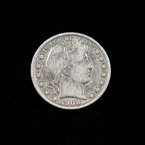 1908 Barber Head Half Dollar