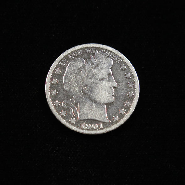 1901 O Barber Head Half Dollar