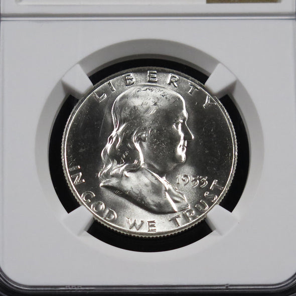 1953 D Franklin Half Dollar NGC MS64 Full Bell Lines