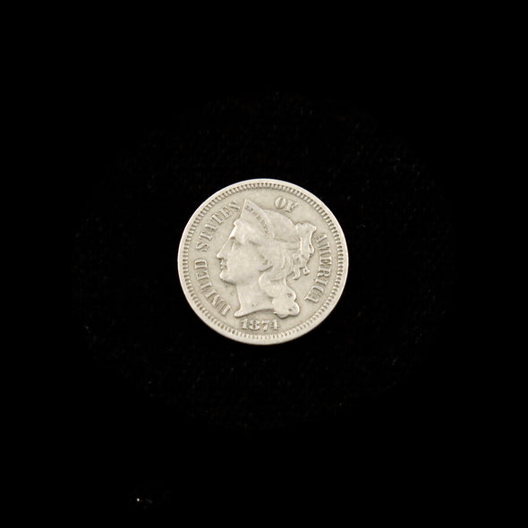 1874 Three Cent Piece (Nickel)