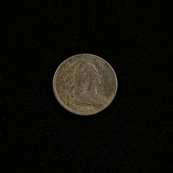 1804 Half Cent Draped Bust Crosslet 4 No Stems