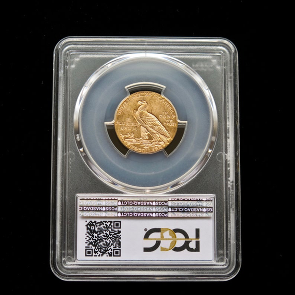 1909-D 5 Dollar Indian Head Gold Coin PCGS MS63
