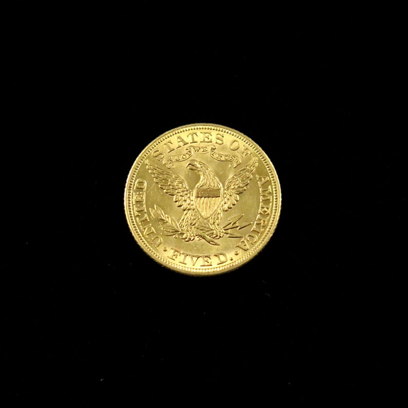 1881 Liberty Head 5 Dollar Gold Coin
