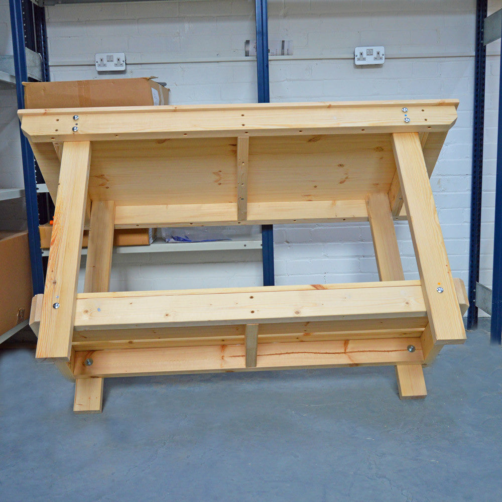 large wooden worktable