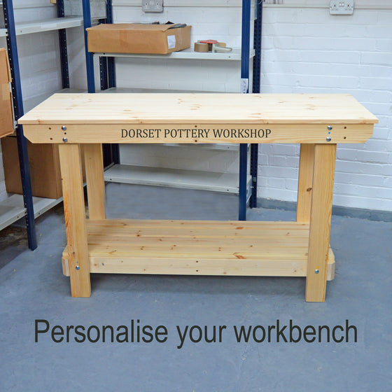 Personalise Your Workbench / potting table With Printed Text