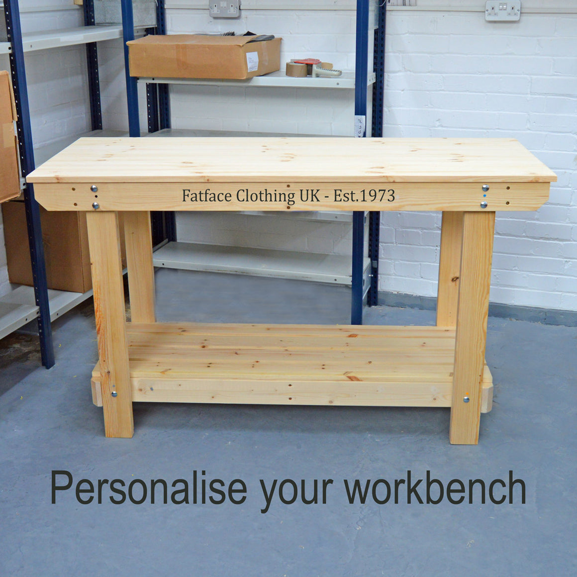 Personalise your workbench or potting table with printed text