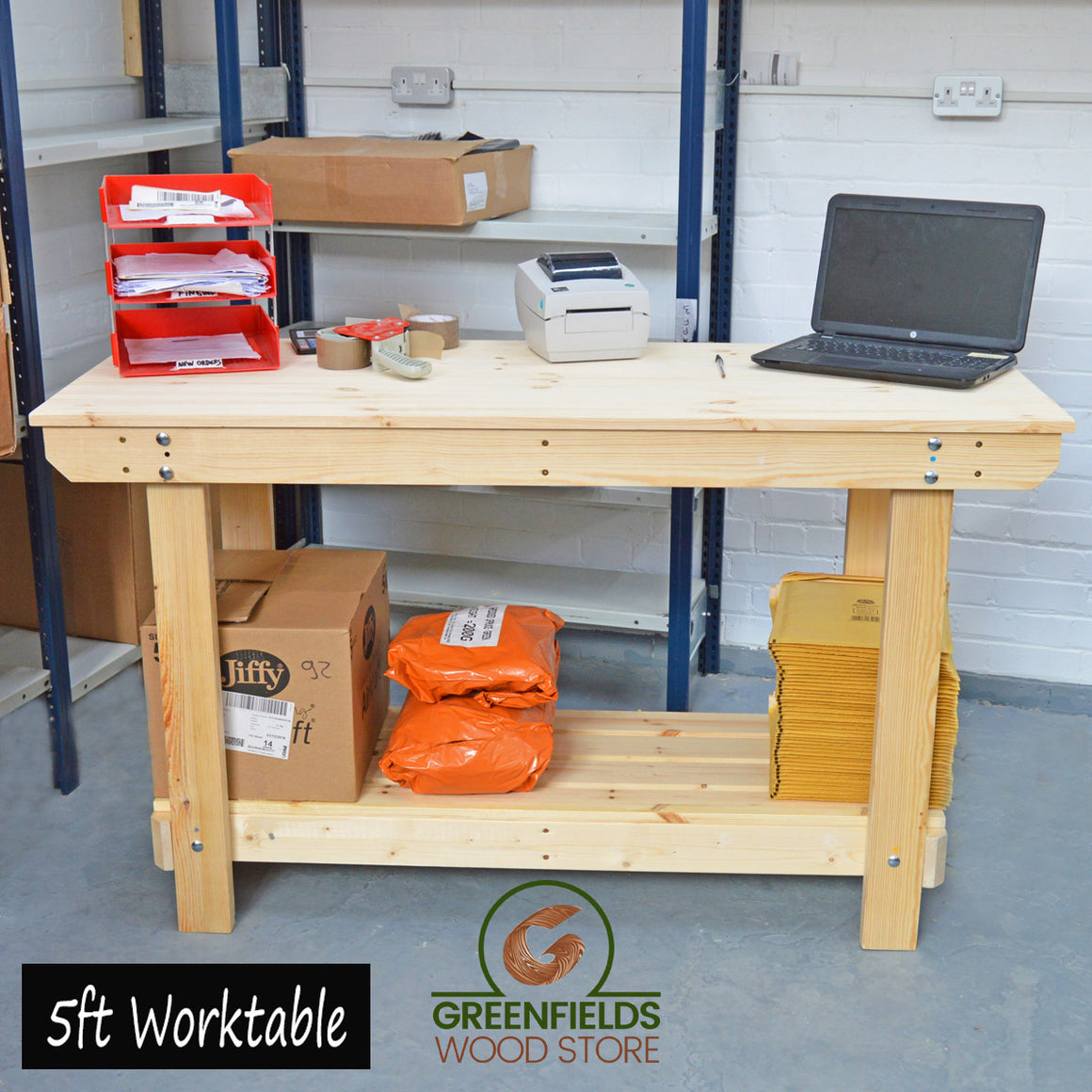 Endurance Workbench - 100% Solid Pine (2ft-6ft)