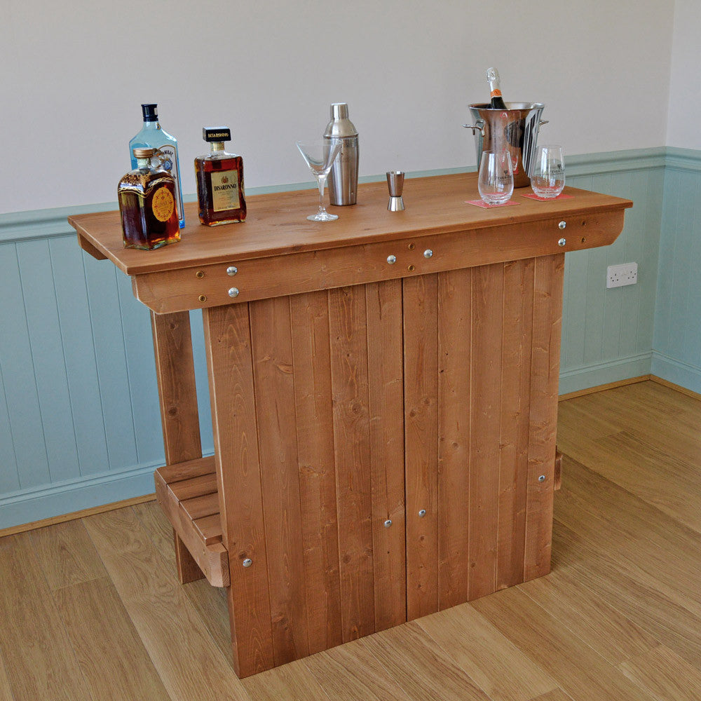 Wooden Bar Forest Oak Colour With Text Or Logo