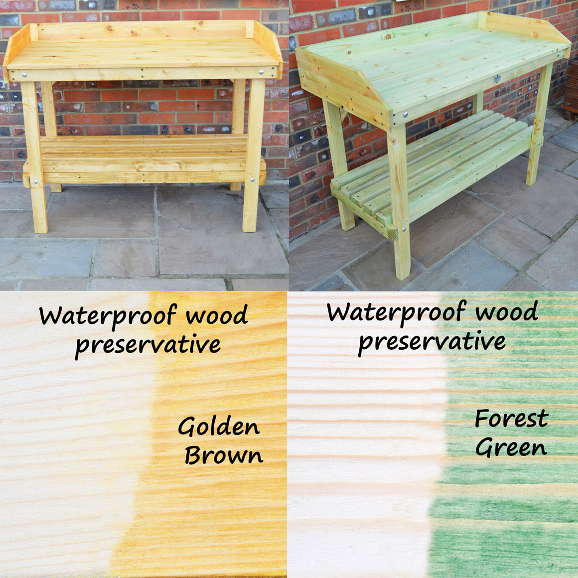 Treated potting table